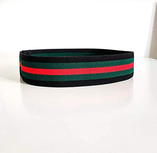 Black/Green/Red headband | Gucci style inspired headband | Elastic hair accessory | Red and green | women trend 2019 | Fitness | Yoga | Hair accessories | Running headband | Elastic band | Nylon