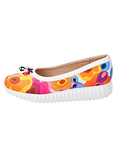 Women's Ballerinas Heine Ballroom Heine Women's Multicoloured Ballerinas pwq7P8