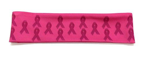 [Rush Dance Breast Cancer Awareness Ribbon Runner's Head Bow Accessories Headband] (Dancing Dolls Costumes)