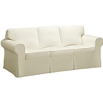 The Sofa Cover Is 3 Seat Sofa Slipcover Replacement. It Fits Pottery Barn  PB Basic Three Seat Sofa (Basic Beige)
