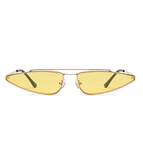 Women Retro Sunglasses Fashion Vintage Glasses Eye Sun Anti UV Unique Amarillo Small Cat nStqYIA