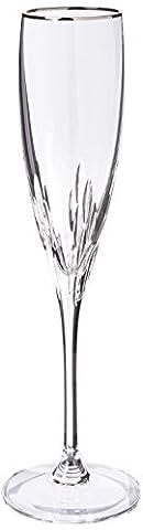 Lenox Firelight Platinum Signature Flute, Clear - Lenox Crystal