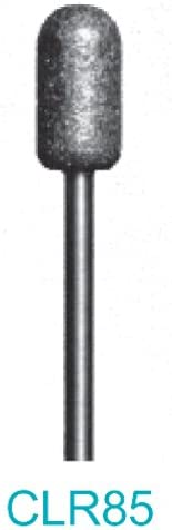 - Rounded Cylinder Made In USA Approximately 6.75mm diameter x 13mm head length CLR85-400 Grit Diamond Bur 3//32 Shank