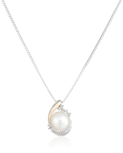 sg-sterling-silver-and-14k-yellow-gold-white-freshwater-cultured-pearl-with-diamond-pendant-necklace