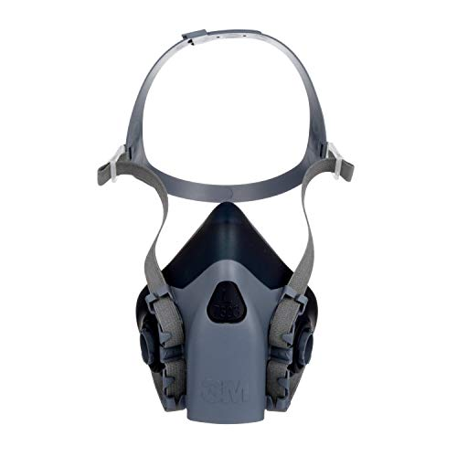 Series Silicone Half Mask Respirator - 3M Large Half Facepiece Reusable Respirator 7503/37083(AAD), Respiratory Protection, Large