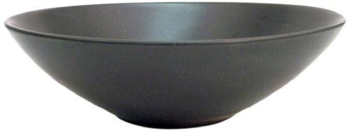 CAC China 666-28-BK Japanese Style 8-Inch Non Glare Glaze Black Salad Bowl, Box of 12