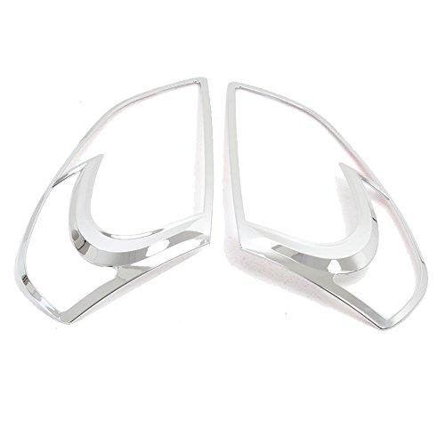 ABS Chrome Front Headlight Cover Trim Bezel for Nissan Qashqai Dualis 2007 2008 2009 2010 2011 2012 1st Gen 2pcs (Don't fit Qashqai +2 Model) ()