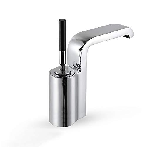 Ppigle Cobre Fino Agua fría y Caliente Grifo de Agua Balancín Giratorio Carrete Lavabo Cuenca Fregadero Grifo Diseño de...