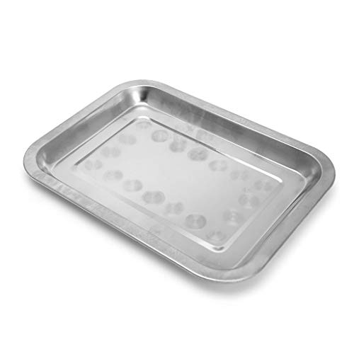 SimpleLif Stainless Steel Rectangular Plate Barbecue Grilled Fish Tray BBQ Food Container 02
