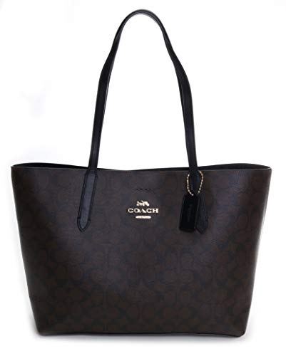 Coach Women's Signature Avenue Tote No Size (Im/Brown/Black)