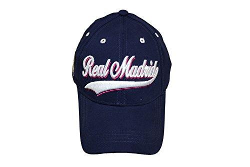 終わりベテランブランド名ブルーReal Madrid c.f.帽子キャップCurved Bill調節可能なネオンストライプ