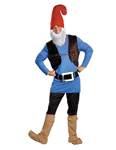 Disguise Men's Papa Gnome Costume, Blue/Brown/Red, ()