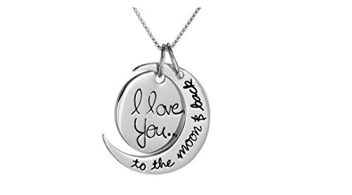 Gift for Mothers Day - 'I Love You to the Moon and Back' Pendant