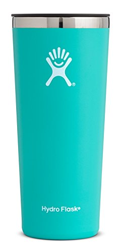 Hydro Flask 22 oz Double Wall Vacuum Insulated Stainless Steel Travel Tumbler Cup with BPA Free Press-In Lid, Mint Lid Mint