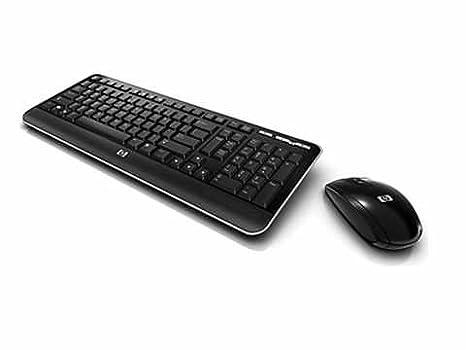 HP QY449AT - Teclado AZERTY (francés) y Ratón Inalámbrico, color Negro: Amazon.es: Informática
