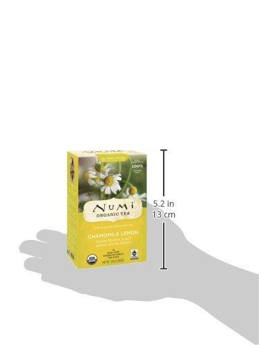 511k8ANLRhL Numi Organic Tea Chamomile Lemon, Caffeine-Free Herbal Teasan, 18 Count non-GMO Tea Bags