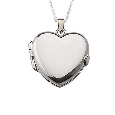 100% autenticado 2020 estética de lujo Alylosilver Collar Colgante Guardapelo de Plata De Ley para Mujer de  Corazón - Incluye una Cadena de Plata de 45 Centimetros y un Estuche para  Regalo