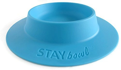 STAYbowl Tip-Proof Bowl for Guinea Pigs and Other Small Pets - Sky Blue - Large 3/4 Cup Size New