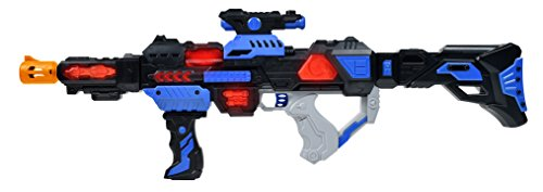 Maxx Action Galactic Series Toy Photon Space Rifle with Galactic Space Sounds and Multi-Colored Spinning Lights