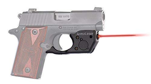 ArmaLaser SIG P238 P938 TR8 Super-Bright Red Laser Sight with Grip Activation (Crimson Trace Sig Sauer P238 Laserguard With Holster)