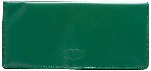 Big Skinny Women's Executive Leather Bi-Fold Checkbook Slim Wallet, Holds Up to 40 Cards, Verdant Green
