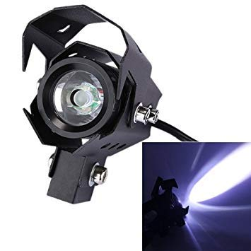 Uniqus 10W 1500LM CREE LED White Motorcycle Headlight Lamp, DC 12-80V Waterproof Rank IP67