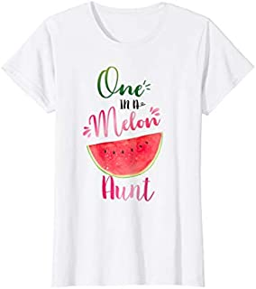 Womens One In A Melon Aunt Waterlemon Summer  Cute Aunt Gifts T-shirt | Size S - 5XL