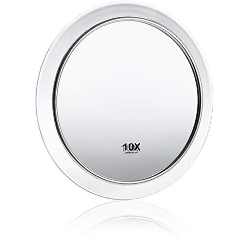 Fantasia - lupa espejo, un aumento de 10x, de acrilico transparente, con ventosas, diametro interno 8 cm