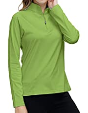 AjezMax Golf Shitrs Women Half Zip Pullover Running Shirt Athletic Long Sleeve Workout Tops