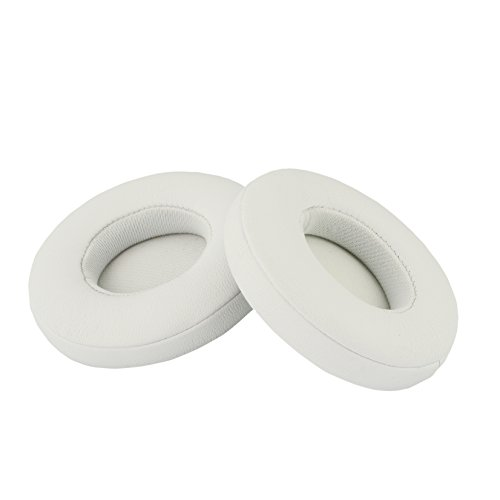Accessory House Replacement Ear Pads for Beats Solo 2 Wired and Solo 2 Solo 3 Wireless Headphones with Exclusive AHG Adhesive Tape (Solo 2/3, White)