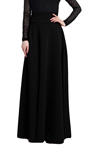Vintage Swing Taille Femmes Black Zonsaoja Taille Haute Jupe Maxi Plus Les Longue 7zqqSHwWv