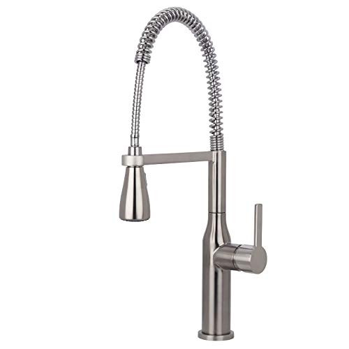 Miseno MNO500BSS Galleria 1.8 GPM Pre-Rinse Kitchen Faucet with Multi-Flow Spray Head - Includes Optional Deck Plate