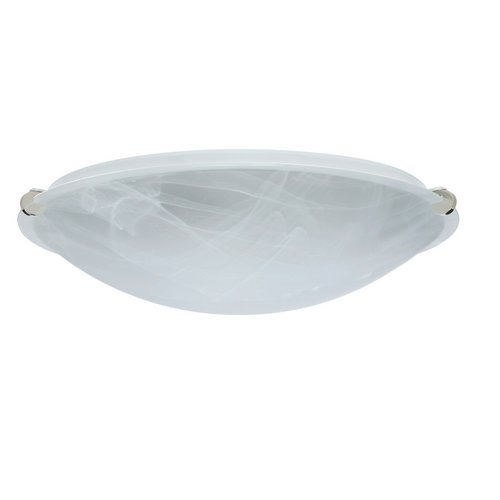 Besa Lighting 968152-PN 2X100W A19 Trio 16 Ceiling Light Fixture with Marble Glass, Polished Nickel Finish by Besa