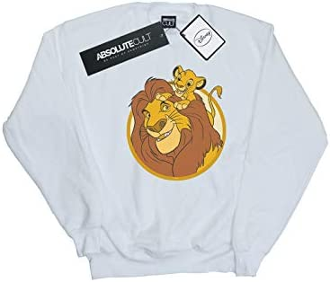Disney Herren The Lion King Mufasa and Simba Sweatshirt Weiß Small