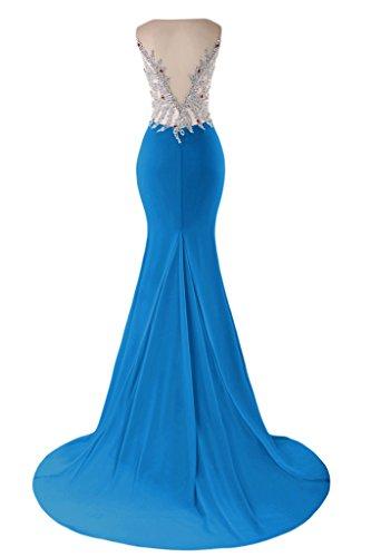 sunvary elegante sirena V-neckline Fiesta Fiesta De Vestido De Fiesta con bañador Ink Blue