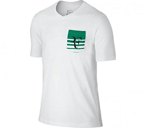 Nike Men's Roger Federer Tennis Tee White 739477-100 (S) (Roger Federer Shoes Nike)