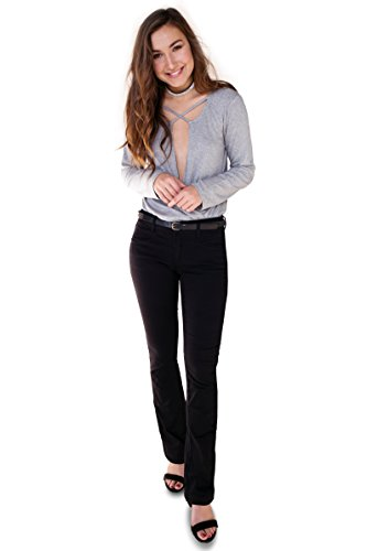 Bebop Women's Bootcut Pant, Black, Size 5, Stretch Cotton Twill, Removable - Boot Corduroy Pant