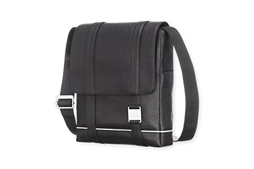 Moleskine Lineage Reporter Bag, Leather, Black by Moleskine