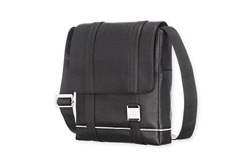 (Moleskine Lineage Reporter Bag, Leather, Black)
