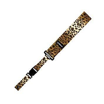 DiMarzio DD2230CH 2 Inch Nylon Cliplock Strap Cheetah w/Bonus Deluxe RIS Picks