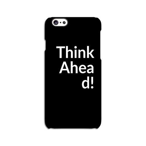 Think Ahead White On Black Back Case for Apple iPhone 6 6S