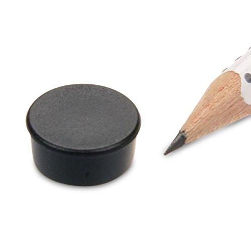memomagnet Ø 16x 7mm ferrite–Noir–Tient 300g magnetshop MM-16x07-S