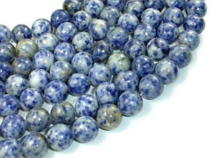 (Blue Spot Jasper Beads, 12mm Round Beads (153054002) Crafting Key Chain Bracelet Necklace Jewelry Accessories Pendants)