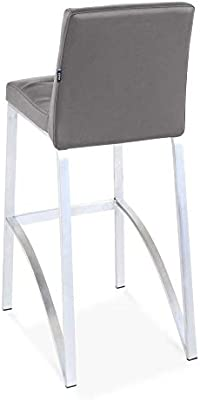 Zuri Furniture Lynx Bar Stool with Metal Base - Slate