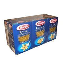 Barilla Pasta Rotini and Farfalle Value Pack 3 Farfalle and 3 Rotini 1 Pound Boxes