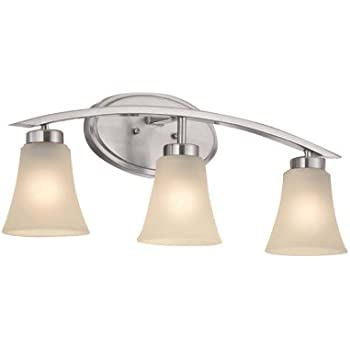Portfolio 3-Light Lyndsay Brushed Nickel Bathroom Vanity Light ...