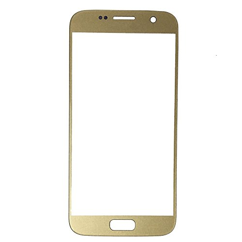 LUVSS New Sceen Glass [LCD Digitizer not Included] Replacement for Samsung Galaxy S7 G930A G930P G930T G930V G930R4 G930F Touch Screen Front Outer Glass Lens Panel Repair Part (Gold)