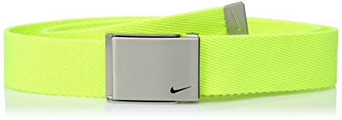 Nike Boys' Big Single Web Belt, volt, One Size