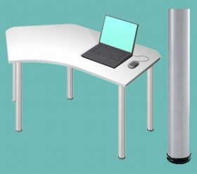 テーブルD2-B-SV白 415926 B001FWE53A