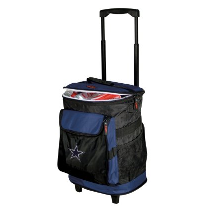 Logo Brands Dallas Cowboys 48-Can Rolling Cooler with Wheels and Backpack Straps